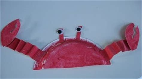 Crab Paper Plate Craft - the sittin spot january 2010