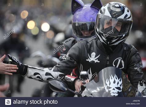 Motorrad Club Russland by Members Of Motorcycle Club Stockfotos Members Of