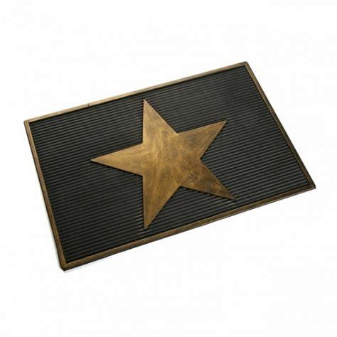felpudo goma felpudo goma de caucho dibujo estrella dorada 40x60 cm