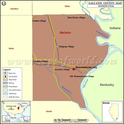 illinois on usa map gallatin county map illinois