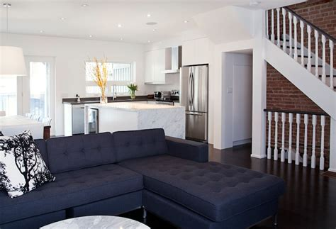 Navy Blue Sectional by Navy Tufted Sectional Living Room Benjamin Cloud White Designer Friend