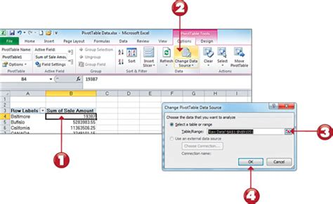 How To Update A Pivot Table by Microsoft Excel 2010 Refreshing Pivot Table Data Adding A Report Filter Adding Pivot Table