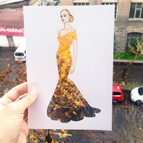 contoh biography artis armenian illustrator completes his cut out dresses with