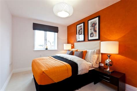 bedrooms with orange walls orange feature wall design ideas photos inspiration