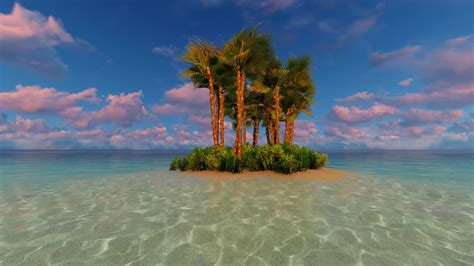 tropical island vacation idyllic background dusk motion