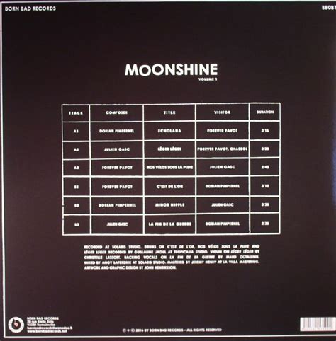 moonshine volume 1 1534300643 dorian pimpernel forever pavot julien gasc moonshine volume 1 vinyl at juno records