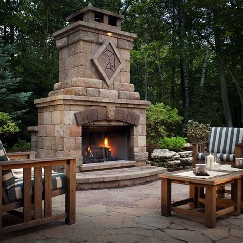 cost of outdoor fireplace harmony outdoor elements