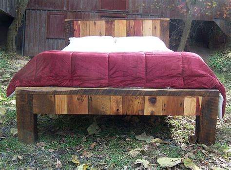size bed frame from reclaimed barn wood