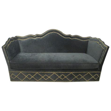 velvet sofas for sale vintage baker silk velvet upholstered sofa for sale at 1stdibs