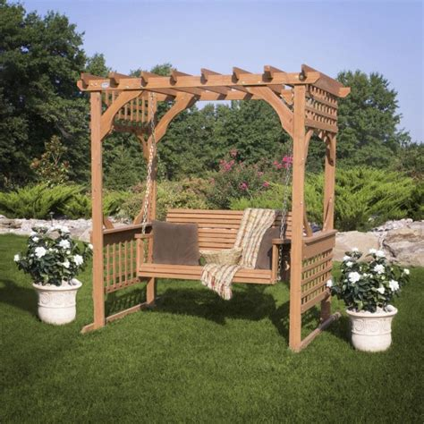 pergola swings 15 beautiful wooden swings home design garden