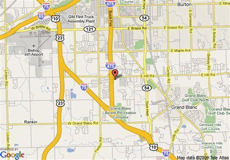 genesys hospital address map of grand blanc michigan michigan map