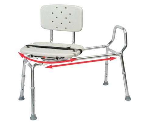 sliding transfer bench with swivel seat sliding shower bath transfer bench chair w swivel seat