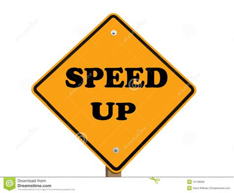 Speed Up speed up sign stock photo image of path quicken isolated 15748260