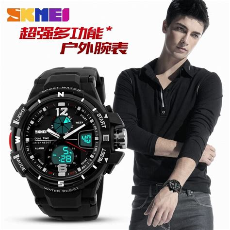 Jam Tangan Skmei Sporty Waterproof skmei jam tangan sporty digital analog pria ad1148