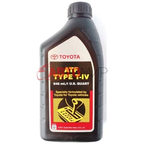 Toyota Atf Type T Iv трансмиссионное масло Toyota Atf Type T Iv 0 946 л