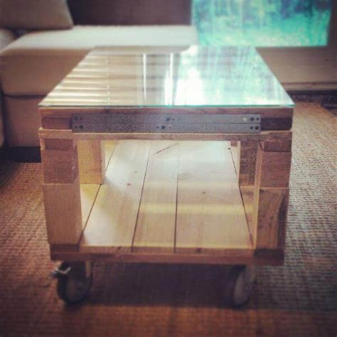 diy expandable pallet desk with glass top 101 pallets