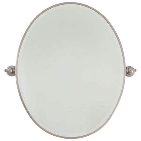 minka lavery brushed nickel extra large oval pivoting beveled brushed nickel 25 5 inch width large oval pivot