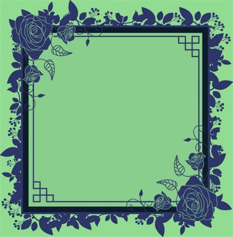 border templates for adobe illustrator border template classical flowers decoration free vector