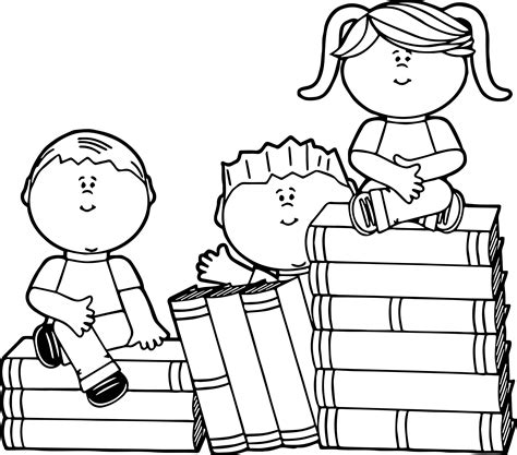 book coloring pages sitting on books coloring page wecoloringpage