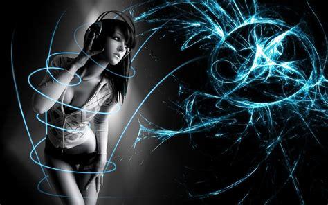 dancing anime girl live wallpaper anime headphones wallpapers desktop phone tablet