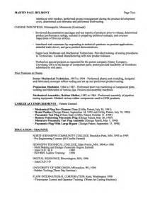 mechanical project engineer resume sle mechanical engineer resume exle licensed mechanical