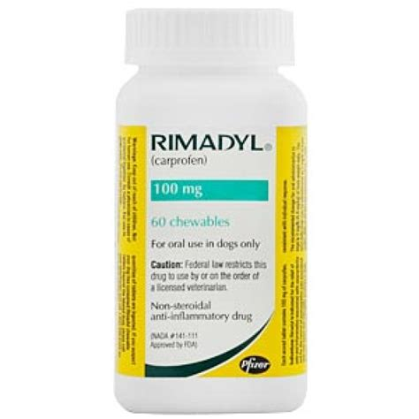 rimadyl 100mg for dogs rimadyl chewable tablets for dogs 100mg x 60 tablets only 140 87 excl gst free