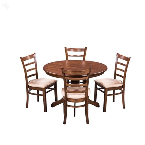 Wood Dining Table Set Buy Royaloak Coco Dining Table Set With 4 Chairs Solid Wood From India S Most