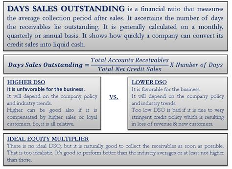 days sales outstanding days sales outstanding define formula calculate