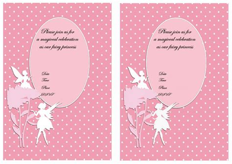 fairy birthday invitations birthday printable