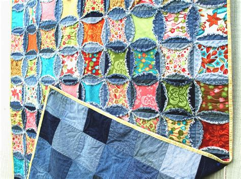 Denim Rag Quilt Pattern by Inventive Denim New Photos Updated Denim Circle Quilt