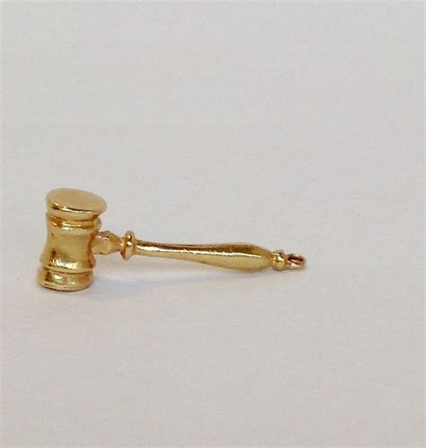 judges gavel charm 14k gold from antiquesofriveroaks on