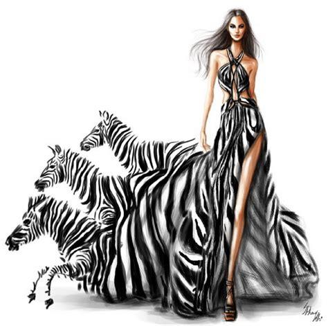 zebra fashion illustration shamekh bluwi