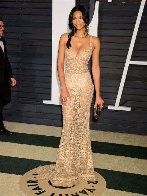 Vanity Fair Oscars by Chanel Iman 2015 Vanity Fair Oscar In