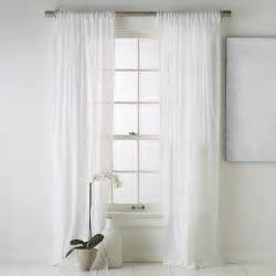 Window Sheer Curtains Crinkle Cotton Window Panel Modern Curtains By West Elm