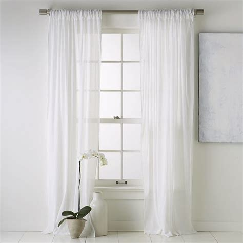 Window Treatment Panels Crinkle Cotton Window Panel Modern Curtains By West Elm