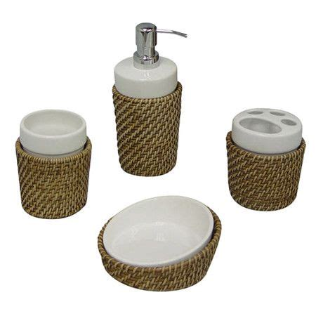 wicker bathroom accessories 15 best images about pia s bathroom on green