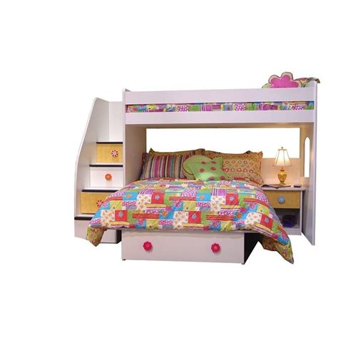 berg bunk beds berg furniture utica twin over full loft bed with 4 drawer