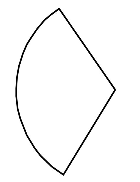 template for shapes pin cone template on
