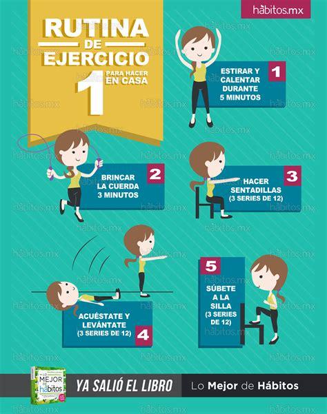 ejercicios de para hacer en casa h 225 bitos health coaching rutina de ejercicio 1 para
