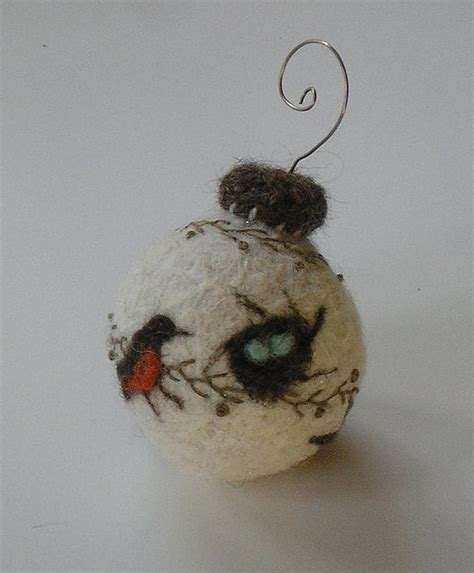 awesome needle felted ornament felting pinterest