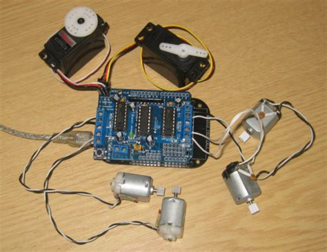arduino tutorial dc motor tutorial arduino motor stepper servo shield part 1