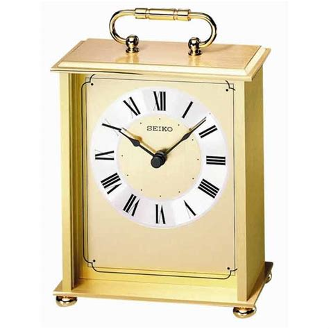 seiko brass desk clock seiko qhg102gl carriage clock the clock depot