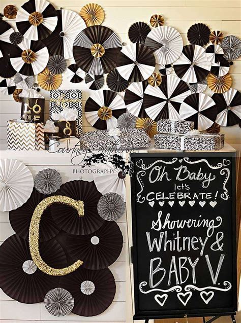 Black And Gold Baby Shower Decorations by Black White Gold Baby Shower Ideas Baby Shower