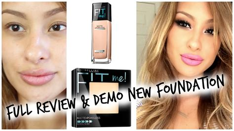 Maybelline Fit Me Set review demo new maybelline fit me matte and poreless