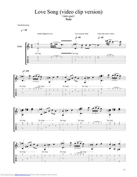 Tesla Freedom Slaves Song Guitar Pro Tab By Tesla Musicnoteslib