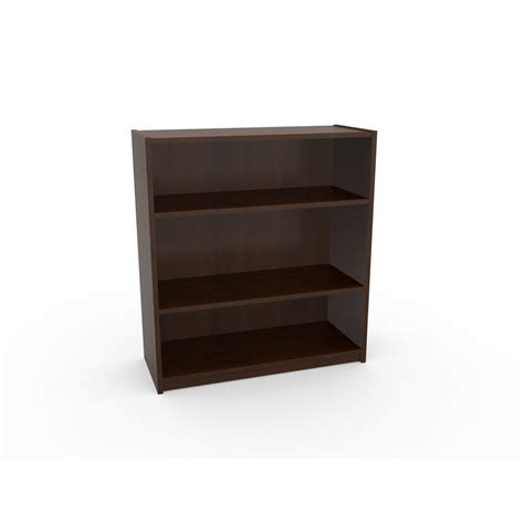 shop ameriwood 3 shelf bookcase black forest at lowes