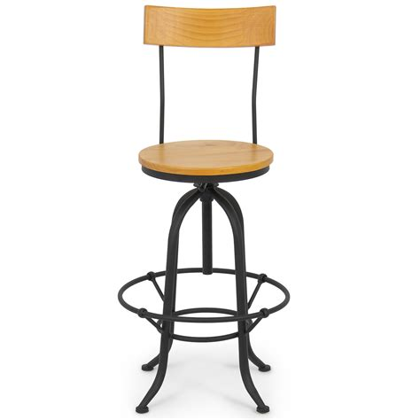 swivel kitchen chairs retro vintage bar stool w back swivel adjustable seat height