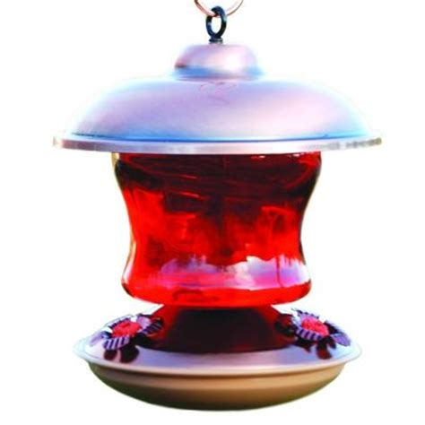 Hummingbird Feeder Home Depot woodlink copper color ruby glass hummingbird feeder wlh5
