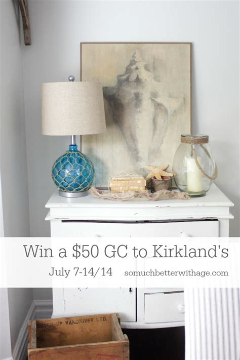 Kirklands Gift Card - getting beachy with kirkland s giveaway so much better with age