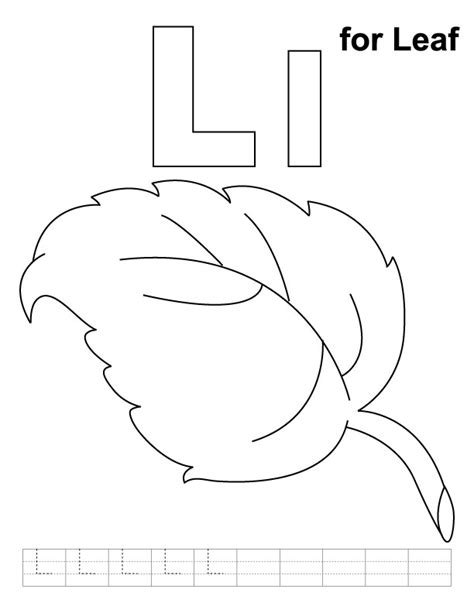preschool leaf coloring pages